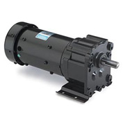 Leeson Motors Motor Gearmotor-Parallel Shaft, 90RPM, 1/6HP, TEFC, 115/230V, AC