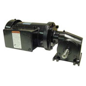 Leeson Motors Gearmotor-Right-Angle Shaft, 170RPM, 3/8HP, TEFC, /208-230V, AC