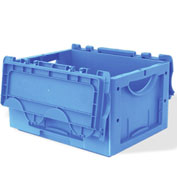 "Schaefer Attached-Lid Container LTBDH4220.BL1 w/2 Piece Lid - 16""L x 12""W x 9""H - Blue"