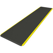 NewLife™ Eco-Pro Continuous Comfort Mat W/ Yellow Safety Stripe 7-1/2' x 20""