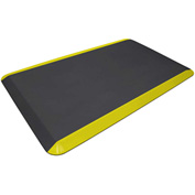 "NewLife™ Eco-Pro Anti Fatigue Mat W/ Yellow Safety Stripe 36"" x 24"" - 104-01-2436-7"