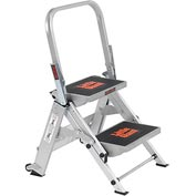 Little Giant® Safety Aluminum Step Ladder - 2 Step - 10210BA