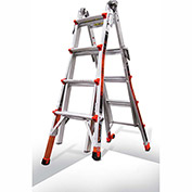 Little Giant Aluminum Revolution Multi-Use Extension Ladder W/ Ratchet Leveler, Type 1A - 12017-801