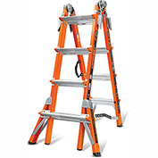 Little Giant Fiberglass Conquest Multi-Use Extension Ladder W/V-Rung, 17' Type 1A - 15144-186