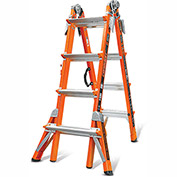 Little Giant Fiberglass Conquest Multi-Use Extension Ladder, 17' Type 1A - 15144
