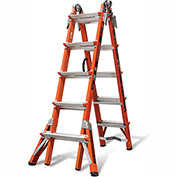 Little Giant Fiberglass Conquest Multi-Use Extension Ladder, 22' Type 1A - 15146-186