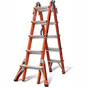 Little Giant Fiberglass Conquest Multi-Use Extension Ladder, 22' Type 1A - 15146