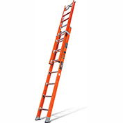 Little Giant Lunar Fiberglass Extension Ladder C Hook/V Rung/Auto Levelers, 16' Type 1AA - 15621-238