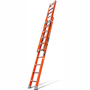 Little Giant Lunar Fiberglass Extension Ladder Cable Hook/Claw/Auto Levelers, 20' Type 1AA-15626-199