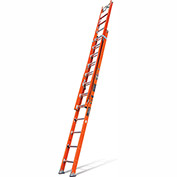 Little Giant Lunar Fiberglass Extension Ladder W/ C-Hook/Ratchet Levelers, 24' Type 1AA - 15627-850