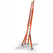 Little Giant SumoStance 3.0 Fiberglass Extension Ladder C-Hook/V Rung/Claw, 24' Type 1AA - 15677-195