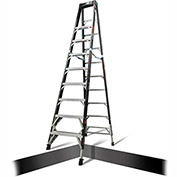 Little Giant Fiberglass SafeFrame Step Ladder W/ Ratchet Legs, 10' Type 1AA - 15770-804