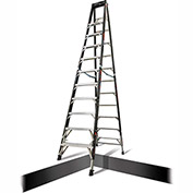 Little Giant Fiberglass SafeFrame Step Ladder W/ Ratchet Legs, 12' Type 1AA - 15772-804