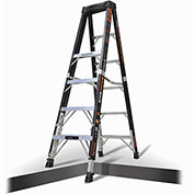 Little Giant Fiberglass SafeFrame Step Ladder W/ Ratchet Legs, 6' Type 1AA - 15776-804