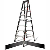 Little Giant Fiberglass SafeFrame Step Ladder W/ Ratchet Legs, 8' Type 1AA - 15778-804