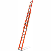 Little Giant Lunar Fiberglass Extension Ladder W/ D Rung/House Pad, 28' Type 1AA - 16328-215