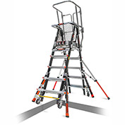 Little Giant Fiberglass Aerial Safety Cage Ladder, 5-9' Type 1AA - 18509-817