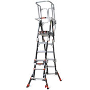 Little Giant Fiberglass Compact Safety Cage Ladder, 4-6' Type 1AA - 19504