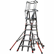 Little Giant Fiberglass Compact Safety Cage Ladder, 6-10' Type 1AA - 19506-244