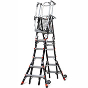 Little Giant Fiberglass Compact Safety Cage Ladder, 6-10' Type 1AA - 19506-815