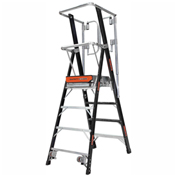 Little Giant Fiberglass Elevated Enclosed Safety Cage Ladder, 4' Type 1AA - 19604