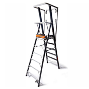 Little Giant Fiberglass Elevated Enclosed Safety Cage Ladder, 6' Type 1AA - 19606