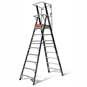 Little Giant Fiberglass Elevated Enclosed Safety Cage Ladder, 8' Type 1AA - 19608