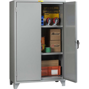 "Little Giant® 12 Gauge High Capacity Storage Cabinet, 2 Adjustable Shelves, 24""W x 48""D"