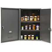 "Graham-Field 3008 Narcotic Safe, Double Door with Key Lock, 16""W x 8""D x 24""H, Gray"