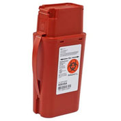 Covidien SharpSafety™ Transportable Sharps Container, Red, 1 Quart, 1 Each