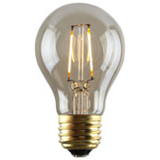 Luminance L7583-1 A19 Nostalgia LED Filament Bulb in Amber. E26 Base, 2W, 180 Lumens, 2200K