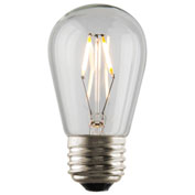 Luminance L7584 S14 Nostalgia LED Filament Bulb, Clear, E26 base, 1W, 100 Lumens, 2400K