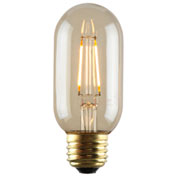 Luminance L7586-1 T14 Nostalgia LED Filament Bulb in Amber, E26 Base, 2W, 180 Lumens, 2200K
