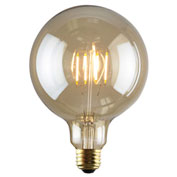 Luminance L7587 G40 Nostalgia LED Filament Bulb in Amber, E26 Base, 2W, 180 Lumens, 2200K