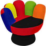 "Lumisource Mitt Chair® - 32"" Dia x 27-1/2"", Multi"