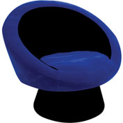 "Lumisource Saucer Chair- 26-1/2""L x 32-1/2""W x 28""H, Blue"