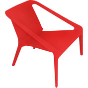 """Lumisource Transitions Chair- 27-1/2""""L x 28-1/2""""W x 26-1/2""""H, Red"""