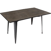 "Lumisource Oregon Dining Table 36""L x  36""W x  30-1/2""H Aged Wood"