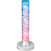 "Lumisource Radiance Table Lamp - 5-1/4"" Diameter X 13""H - Clear / Multi-Color"