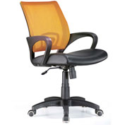 "Lumisource Officer Office Chair- 23""L x 19""W x 36 - 40""H, Tangerine"