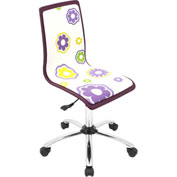 "Lumisource Printed Office Chair- 23""L x 23""W x 34 - 38-1/2""H, Daisies"