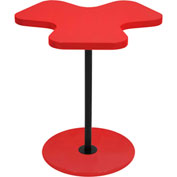 "Lumisource Clover Side Table - 21-1/4""L x 19-1/4""W x 22""H, Red"