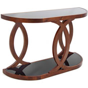 "Lumisource Pesce Console Table - 16""L x 48-3/4""W x 30""H, Walnut Veneer"