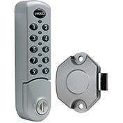 LockeyUSA Electronic Keypad Cabinet & Locker Lock EC780SVSLAM - Vertical Keypad - SLAM Latch, Silver