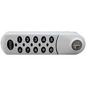 LockeyUSA Electronic Keypad Cabinet & Locker Lock EC780WL - Horizontal Left Keypad - White