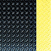 Crown #550 Workers-Delight™ Ultra Deck Plate W/ Zedlan Foam Backing 3'X5' Black/Yellow