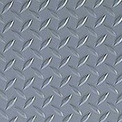 Crown #550 Workers-Delight™ Ultra Deck Plate W/ Zedlan Foam Backing 2'X75' Gray