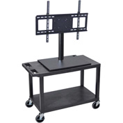 Luxor Mobile Cart With Universal LCD Mount 32Wx18Dx44H