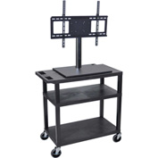 Luxor Mobile Cart With Universal LCD Mount 32Wx18Dx54H