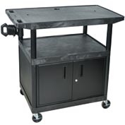 A/V Cart w/ Cabinet & Wide Top - 32x24x40-1/2